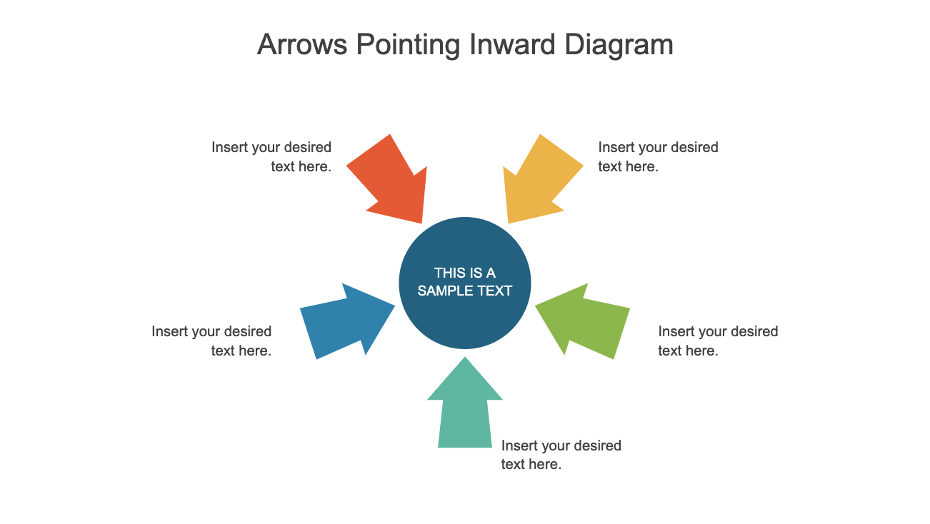 Arrows Pointing Inward Diagram for PowerPoint