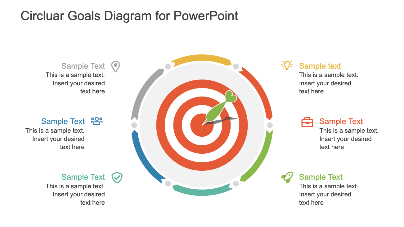 Circular Goals Diagram for PowerPoint